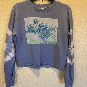 Flower crop top sweatshirt